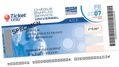 Exemple de CESU (Chèque Emploi Service Universel)