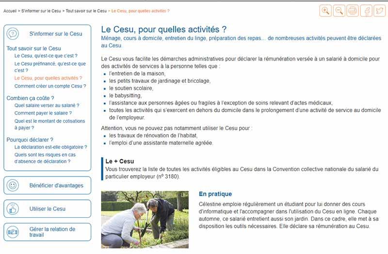 CESU : Quelles activités et services à domicile ?