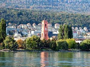Pose de lino à Neuchâtel