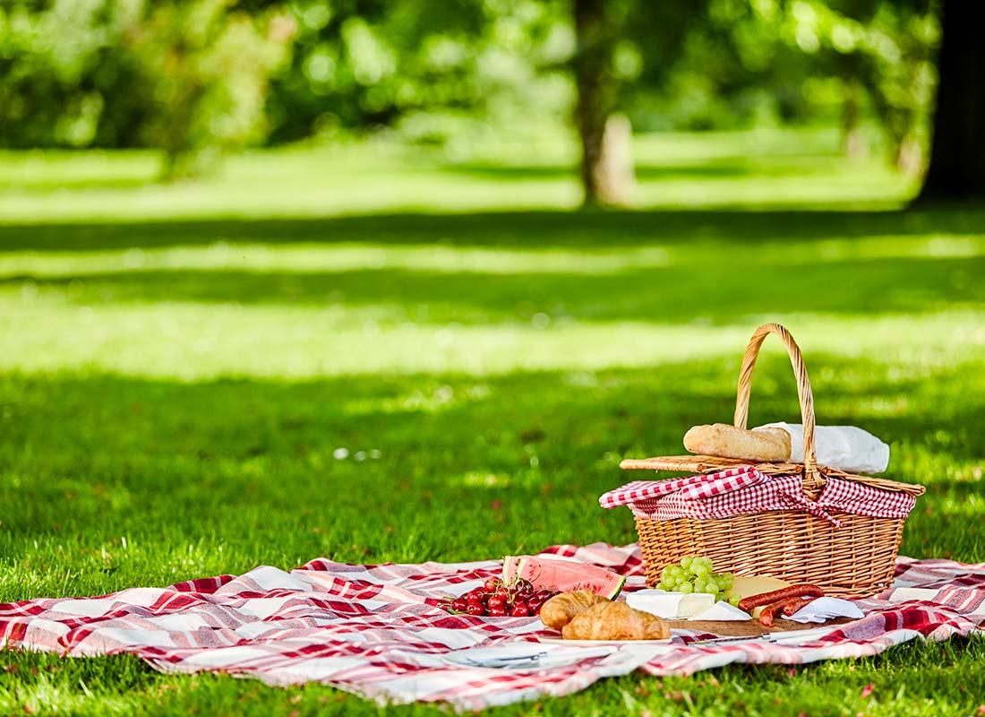 Une image de pique-nique dans un parc