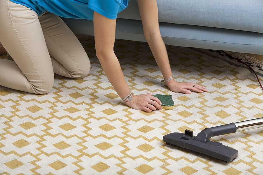 Femme de ménage effectuant des tâches ménagères