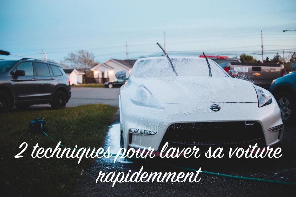 2 techniques pour laver une voiture rapidement