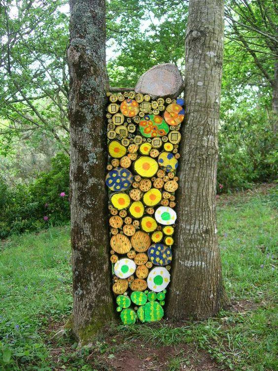 Peindre des tas de bois