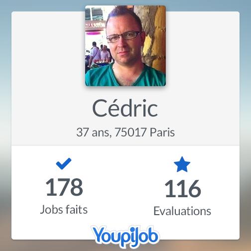 Cédric, meilleur déménageur sur YoupiJob