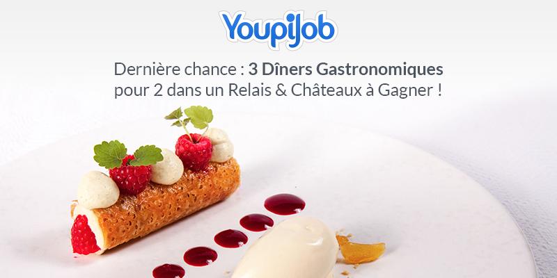 Faites-vous aider par les jobeurs et tentez de remporter un dîner gastronomique pour deux !