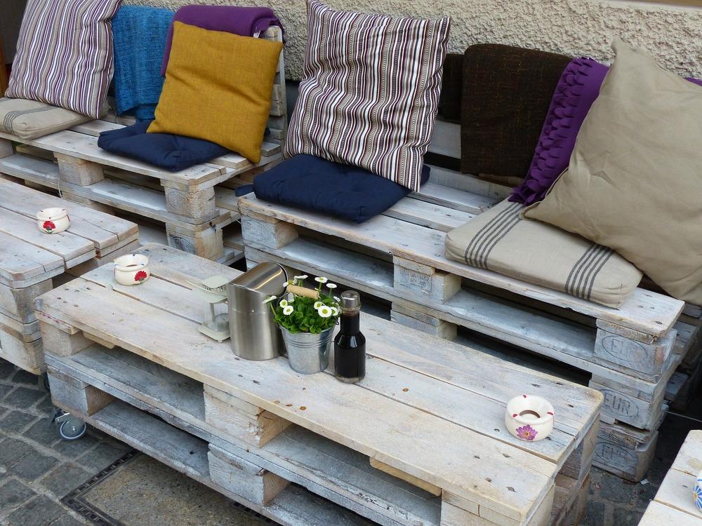 mobilier de jardin en palette